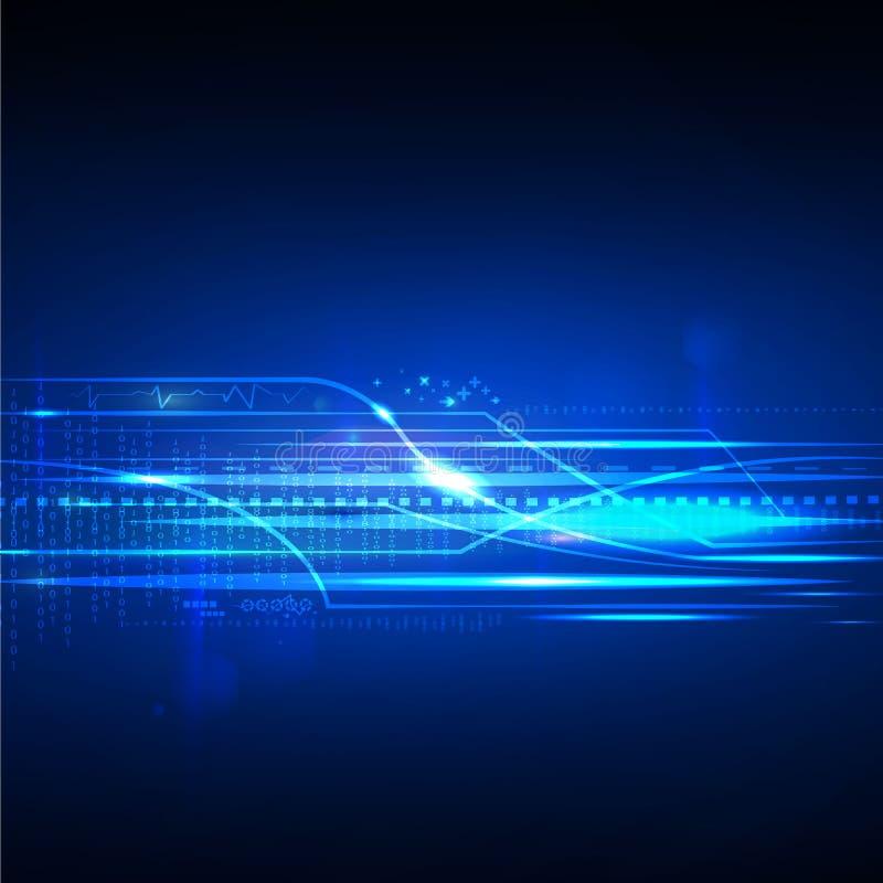 Wektorowej technologii cyfrowej przyszłościowy pojęcie, abstrakcjonistyczny tło ilustracja wektor