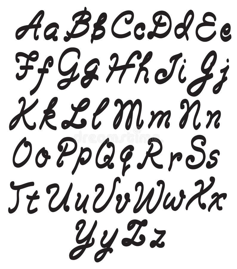 Wektorowi abecadło listy ilustracja wektor