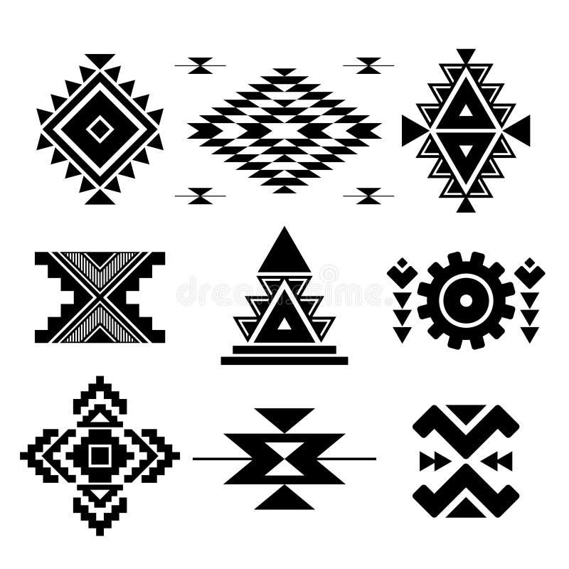 Wektorowi abstrakcjonistyczni geometryczni elementy royalty ilustracja