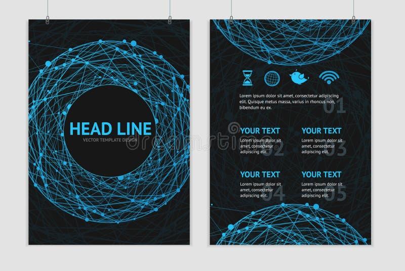Wektorowi abstrakcjonistyczni sfery broszurki projekta szablony royalty ilustracja