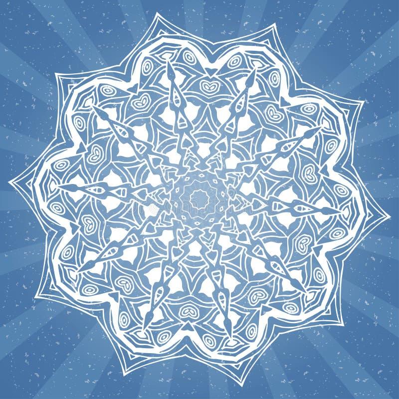 Wektorowi abstrakcjonistyczni tła z mandala elementem projekt dekoracyjny Rocznik geometryczne tekstury Tło dla karty, sieć proje ilustracji
