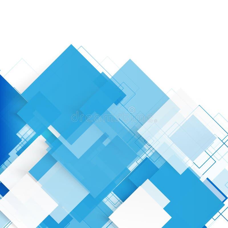 Wektorowi błękitów kwadraty abstrakcyjny tło ilustracji