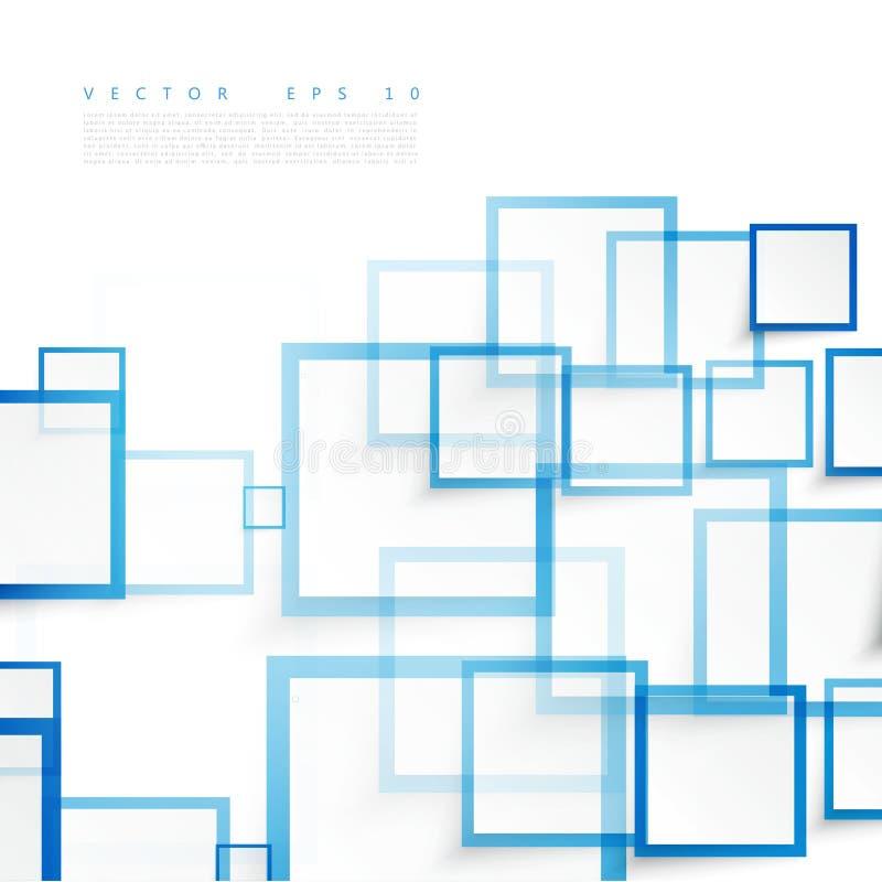 Wektorowi błękitów kwadraty abstrakcyjny tło royalty ilustracja