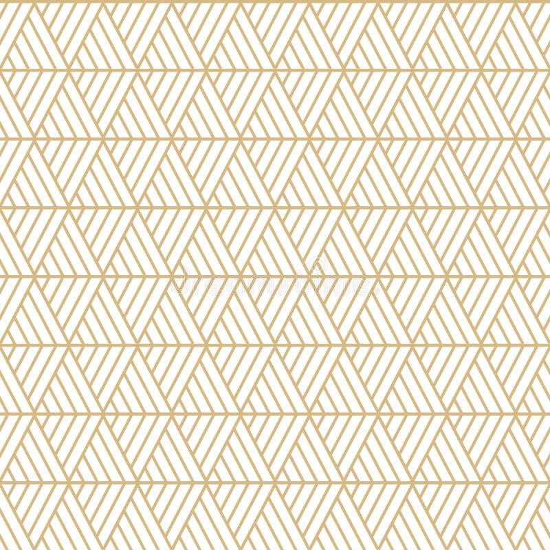 Wektorowi bezszwowi trójboki deseniują maoryjskiego, etniczny, Japan styl Nowo?ytna stylowa tekstura ilustracja wektor