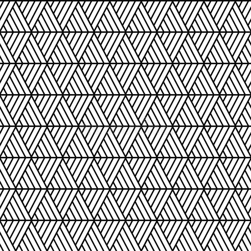 Wektorowi bezszwowi trójboki deseniują maoryjskiego, etniczny, Japan styl Nowo?ytna stylowa tekstura Wielostrzałowe geometryczne  royalty ilustracja