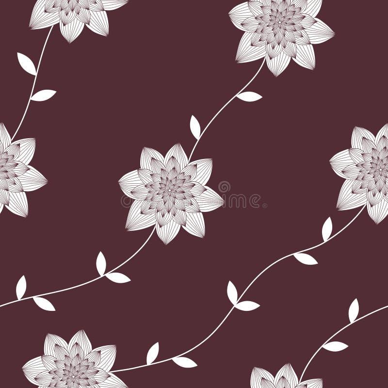Wektorowi bezszwowi, wielostrzałowi luksusowi tekstura wzory z kwiatami, i liście _ ilustracji