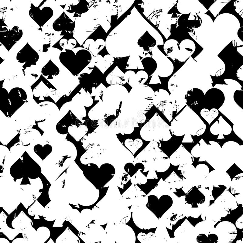Wektorowi bezszwowi wzory z ikonami abstrakcjonistyczne granie karty ilustracji