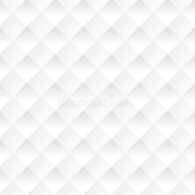 Wektorowi biali kwadraty abstrakcyjny tło ilustracji