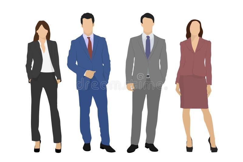 Wektorowi biznes drużyny ludzie ilustracji