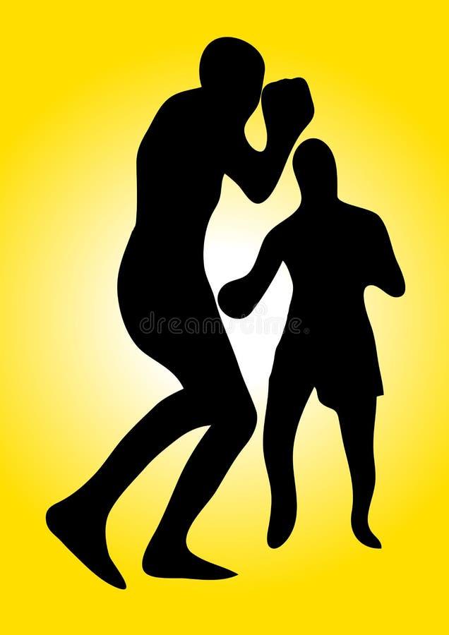 Wektorowi boksery royalty ilustracja