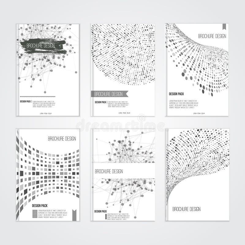 Wektorowi broszurki pokrywy projekta szablony z ilustracji