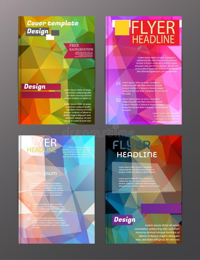 Wektorowi broszurki ulotki projekta układu szablony Abstrakt ilustracja wektor