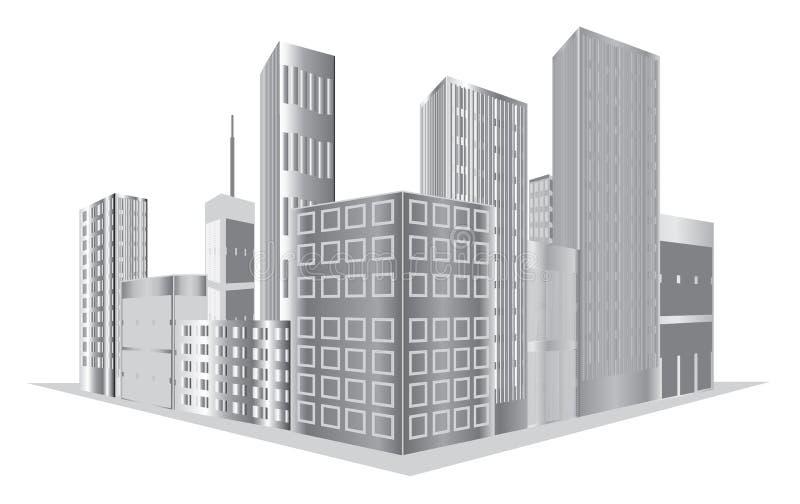 Download Wektorowi budynki ilustracja wektor. Obraz złożonej z sąsiedztwo - 29391658