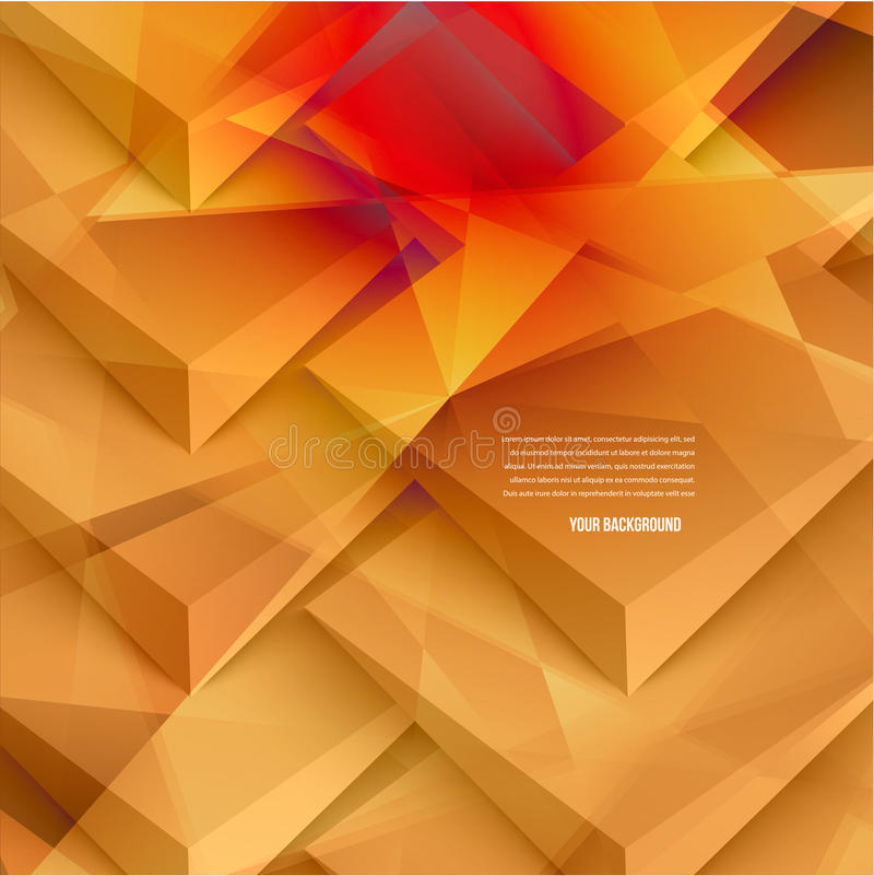 Wektorowi 3d sztandary i kwadraty Projekt ilustracja wektor
