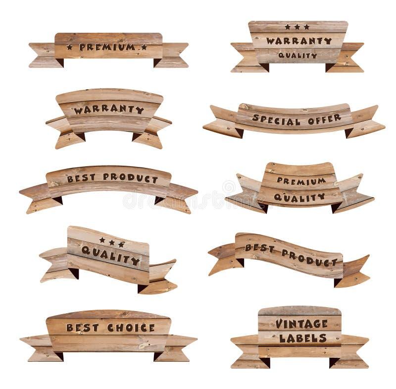 Wektorowi drewno znaki royalty ilustracja