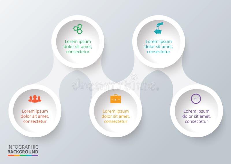 Wektorowi elementy dla infographic royalty ilustracja