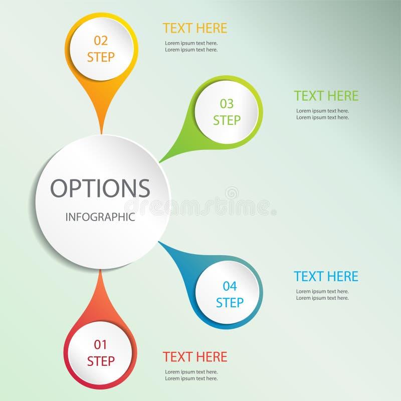 Wektorowi elementy dla infographic Szablon dla diagrama, wykresu, prezentaci i mapy, pojęcia prowadzenia domu posiadanie klucza z ilustracji