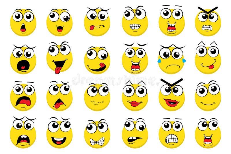 Wektorowi Emoticons ilustracja wektor