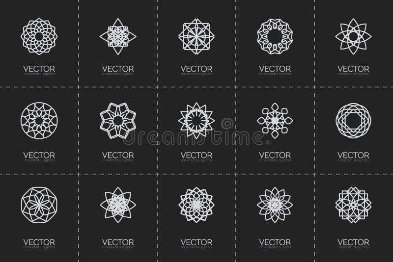 Wektorowi geometryczni symbole royalty ilustracja