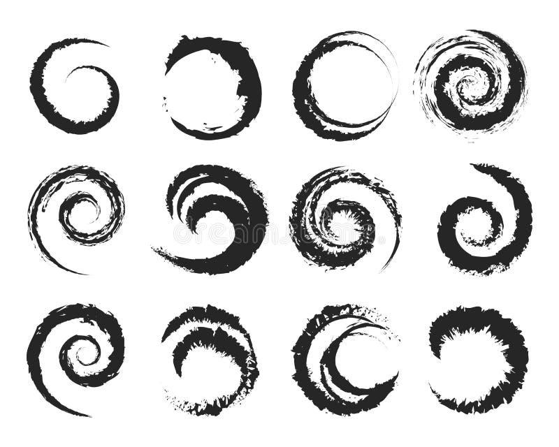 Wektorowi grunge okręgu kształty ilustracja wektor