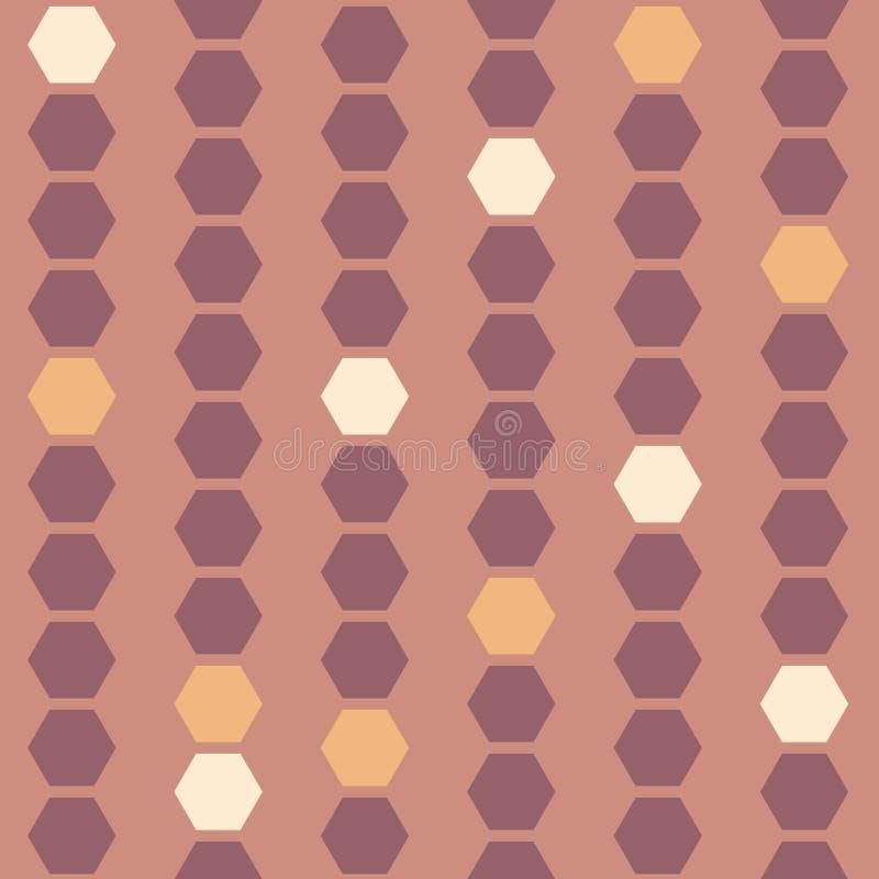 Wektorowi HoneyComb koraliki na pastelu groszaka bezszwowym deseniowym tle royalty ilustracja