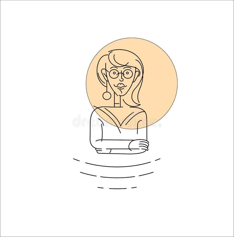Wektorowi ikony i logo charakteru avatars ludzie royalty ilustracja