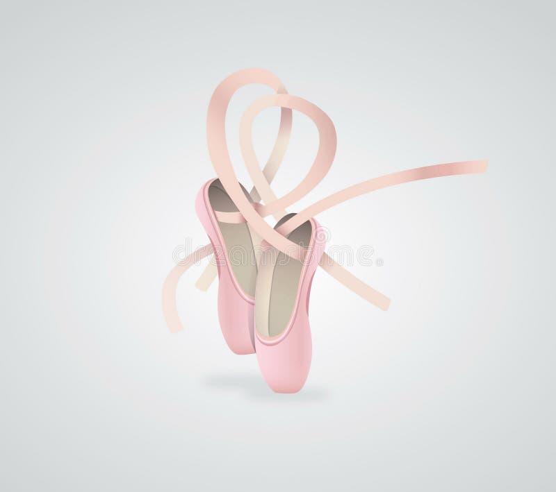 Wektorowi ilustracyjni baletniczy buty ilustracja wektor