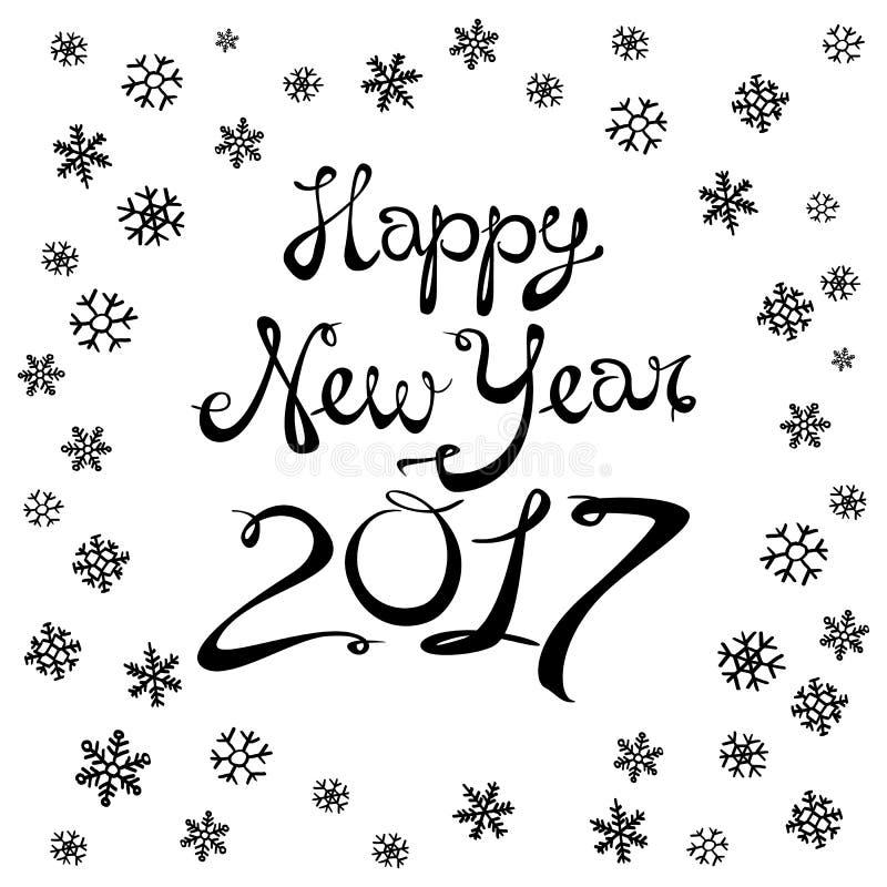 Wektorowi ilustracyjni boże narodzenia i Szczęśliwy nowy rok zamazujący tło spadnie śnieg wally 10 eps 2017 ilustracji