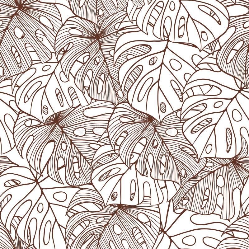 Wektorowi ilustracyjni liście drzewko palmowe ilustracji