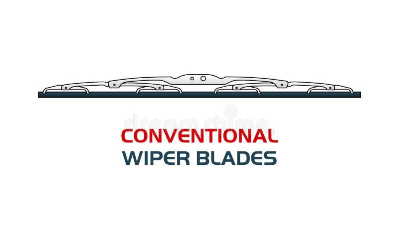 Wektorowi ilustracyjni samochodowi WIPER ostrza ilustracji