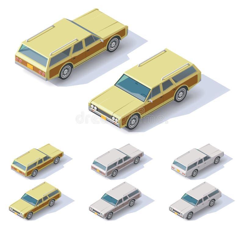 Wektorowi isometric samochody royalty ilustracja