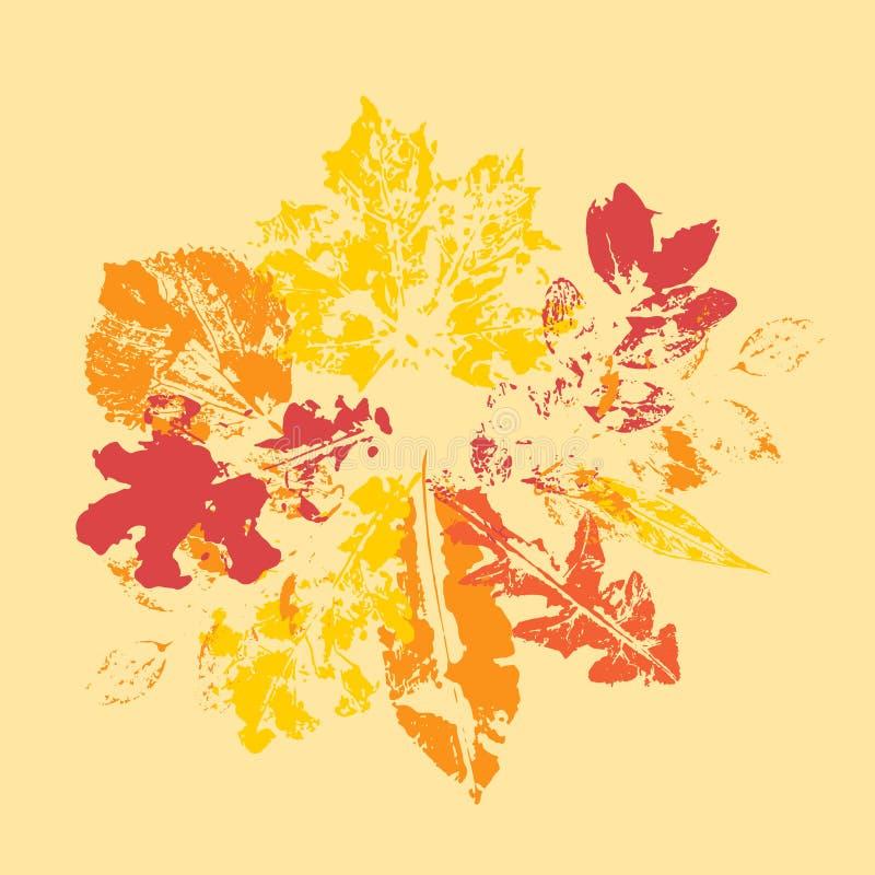 Wektorowi jesień liście ustawiający Projekt dla plakata, sztandary, kartki z pozdrowieniami ilustracja wektor