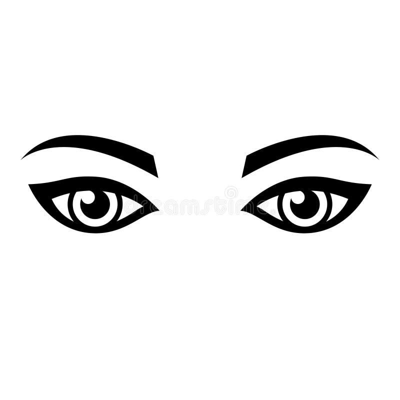 Wektorowi kobiet oczy ilustracji