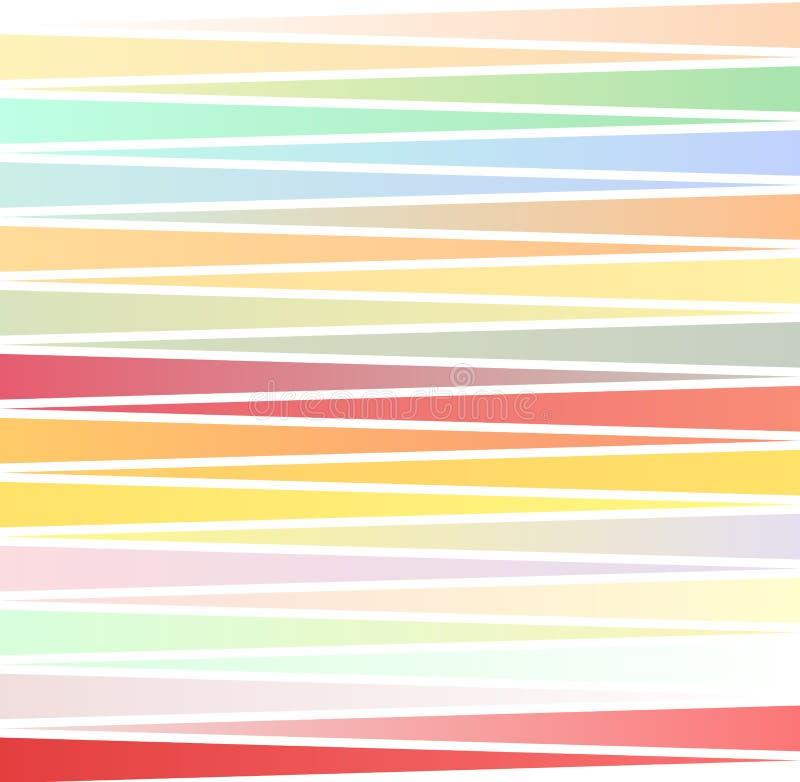 Wektorowi kolorów lampasy, fala wykładają nowożytnego geometrycznego tło Wektorowy szablonu tło dla obieg układu, diagram royalty ilustracja