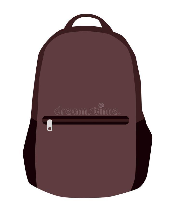 Wektorowi Kolorowi Szkolni plecaki Plecaki dla uczni, uczni, podróżników i turystów, Popiera szkoła plecaka mieszkanie ve ilustracji