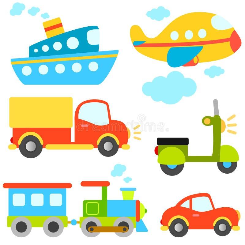wektorowi kreskówka pojazdy royalty ilustracja