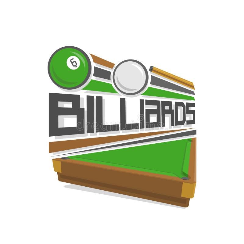 Wektorowi loga basenu billiards royalty ilustracja