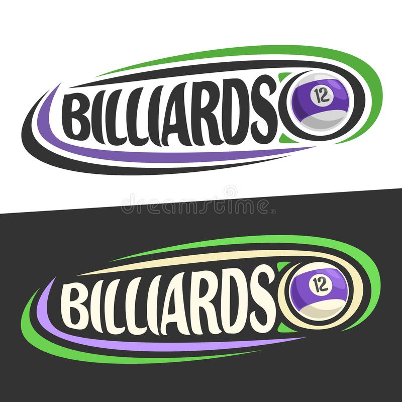 Wektorowi logowie dla Billiards gemowych ilustracja wektor