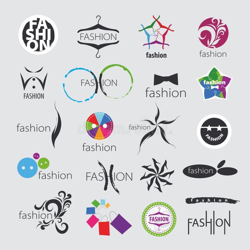Wektorowi logowie dla odziewać i mody akcesoriów royalty ilustracja
