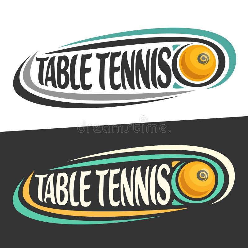 Wektorowi logowie dla Stołowego tenisa sporta ilustracja wektor