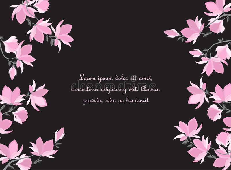 Wektorowi magnolia kwiaty ilustracja wektor
