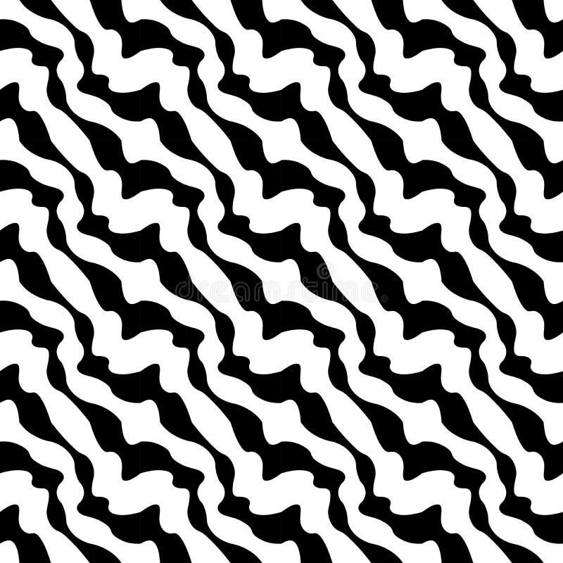 Wektorowi nowożytni bezszwowi geometria wzoru lampasy, czarny i biały abstrakt ilustracja wektor