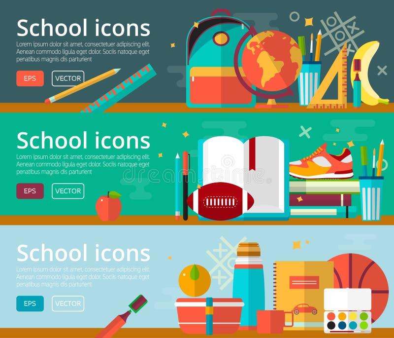 Wektorowi płascy projektów pojęcia edukacja ilustracja wektor