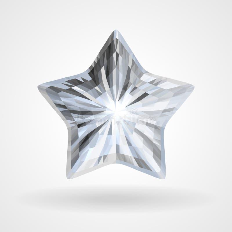Wektorowi Pięć diamentu Wskazująca gwiazda w Trójgraniastym projekcie royalty ilustracja