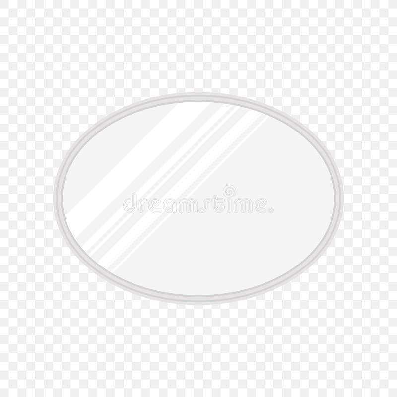 Wektorowi realistyczni owali/lów lustra z rozmytym odbiciem Lustro ramy lub lustrzany wystroju wnętrze ilustracja wektor