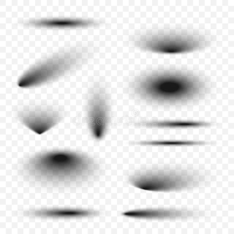 Wektorowi realistyczni przejrzyści cienie odizolowywający ilustracja wektor
