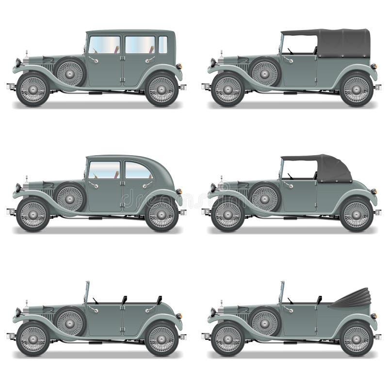 Wektorowi Retro samochody royalty ilustracja