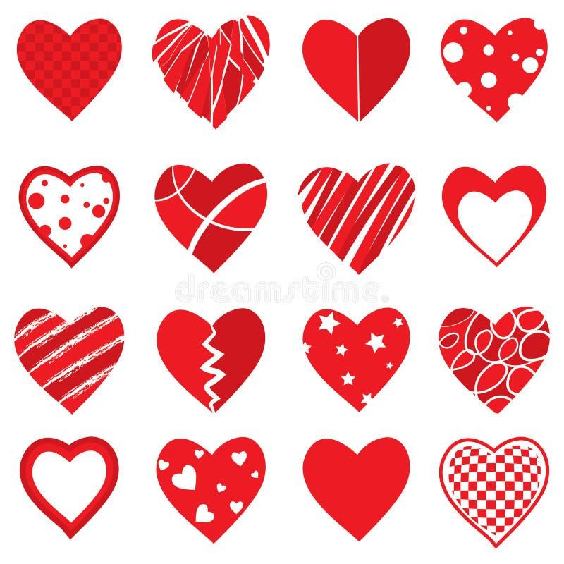 Wektorowi serce kształty ilustracja wektor