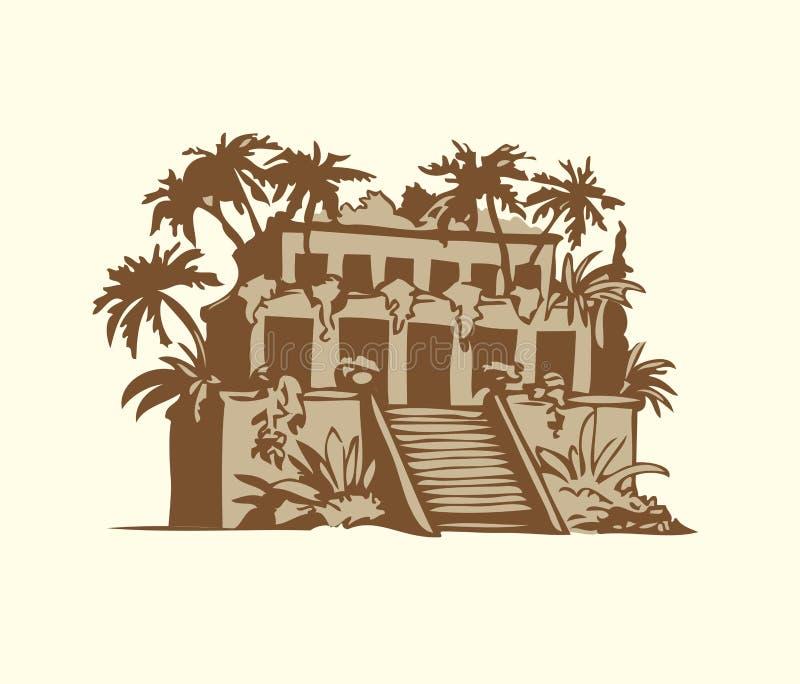 Wektorowi symbole Siedem cudów Antyczny świat royalty ilustracja