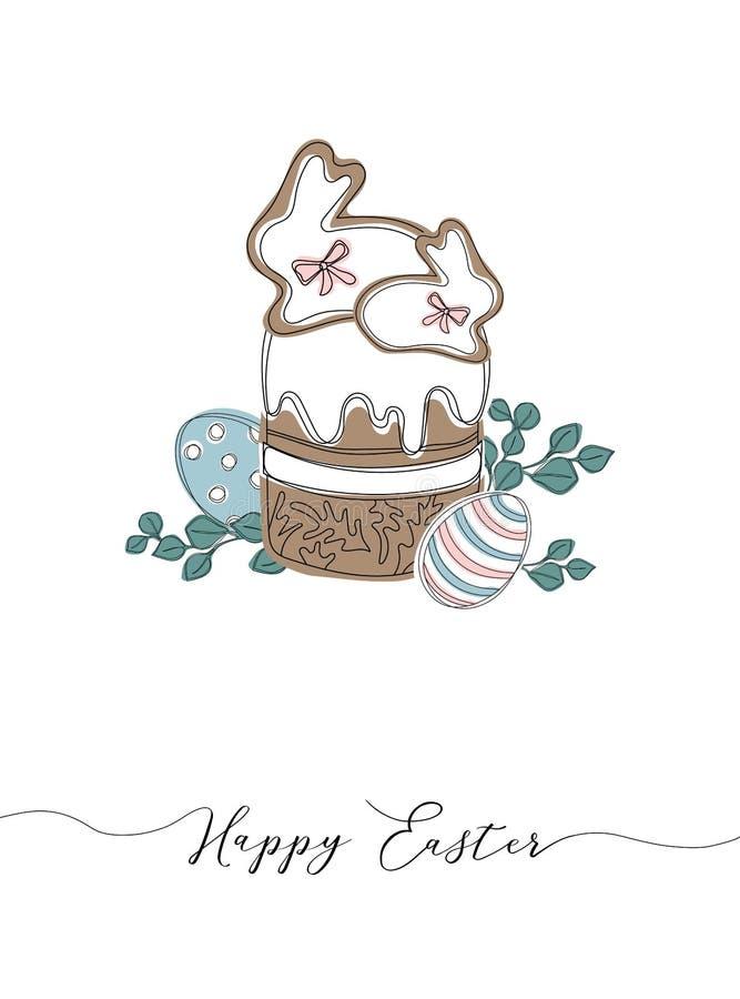 Wektorowi Szczęśliwi Wielkanocni szablony z jajkami, wiankami, królikiem i typograficznym projektem, ilustracji